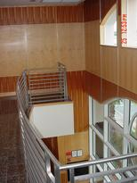 Curved Stainless Steel Railing In Proffesional Building