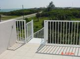 Aluminum Spiral Stair installed at the Beach