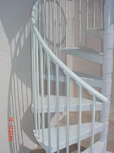 Detail Showing Picket Attachment on Spiral Stair